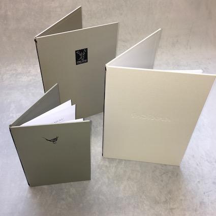 corded folded menus