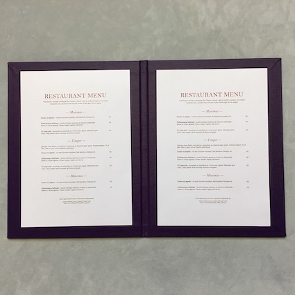 folded menu open