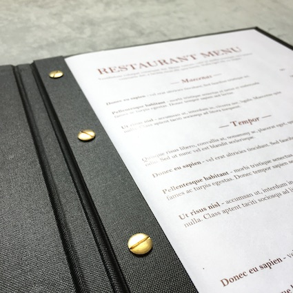 Open menu cover