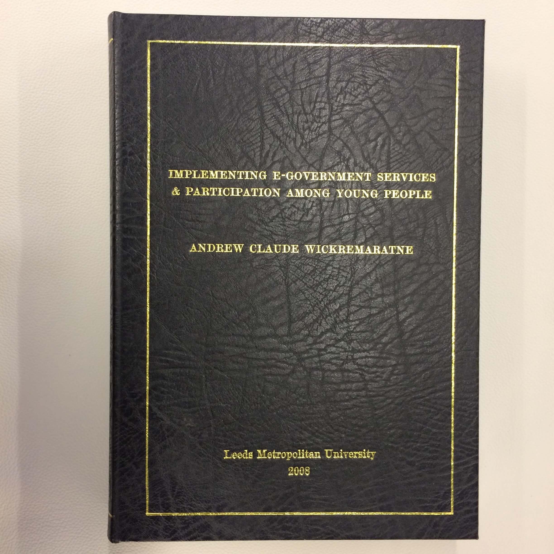 Dissertation binding services leeds