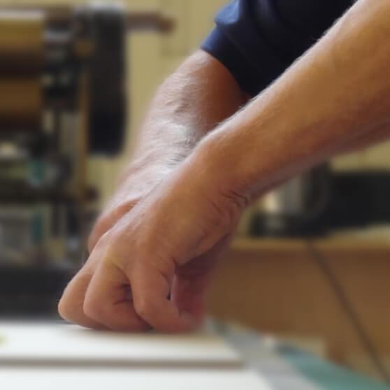 Bookbinders hands