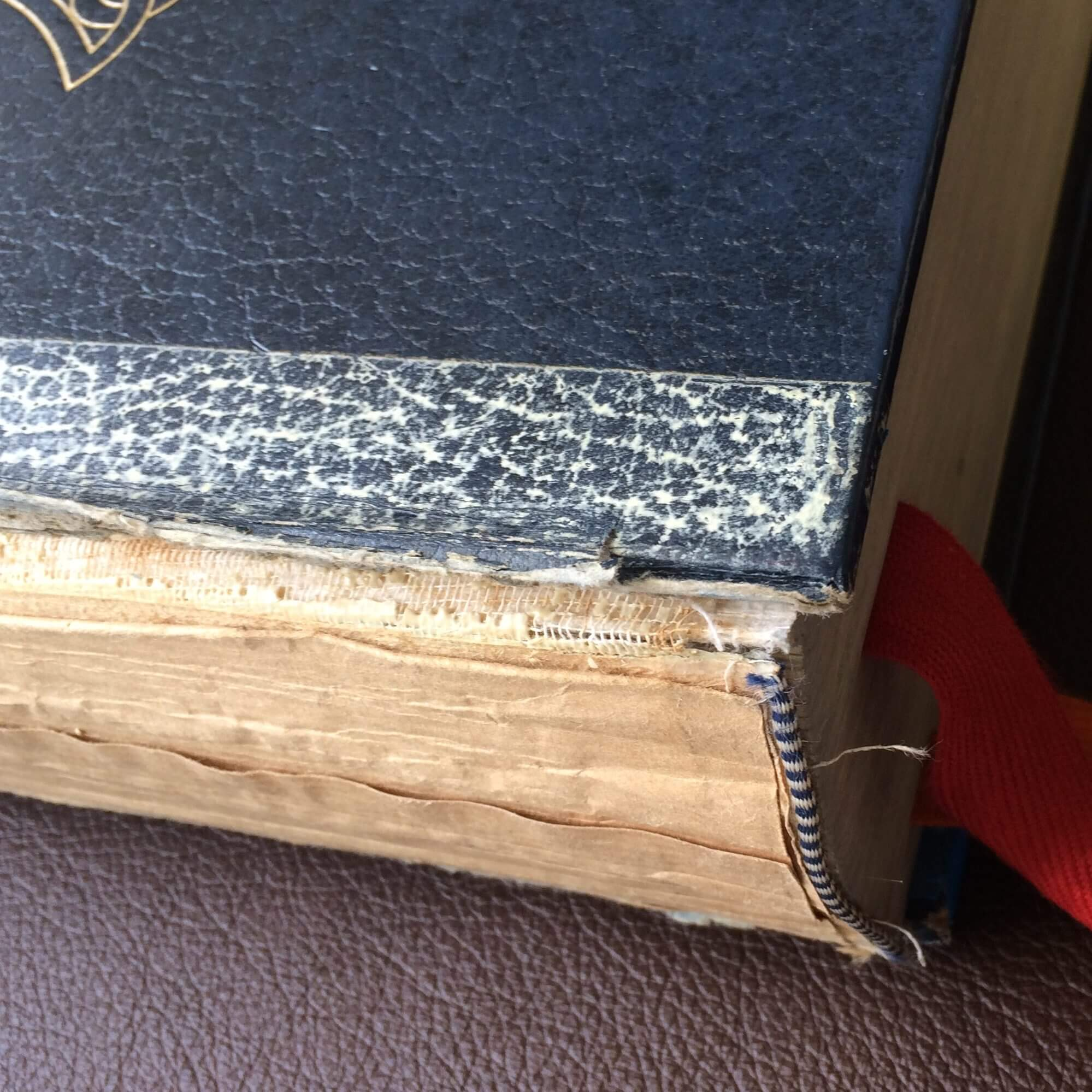 Damaged lectionary for our conservation department