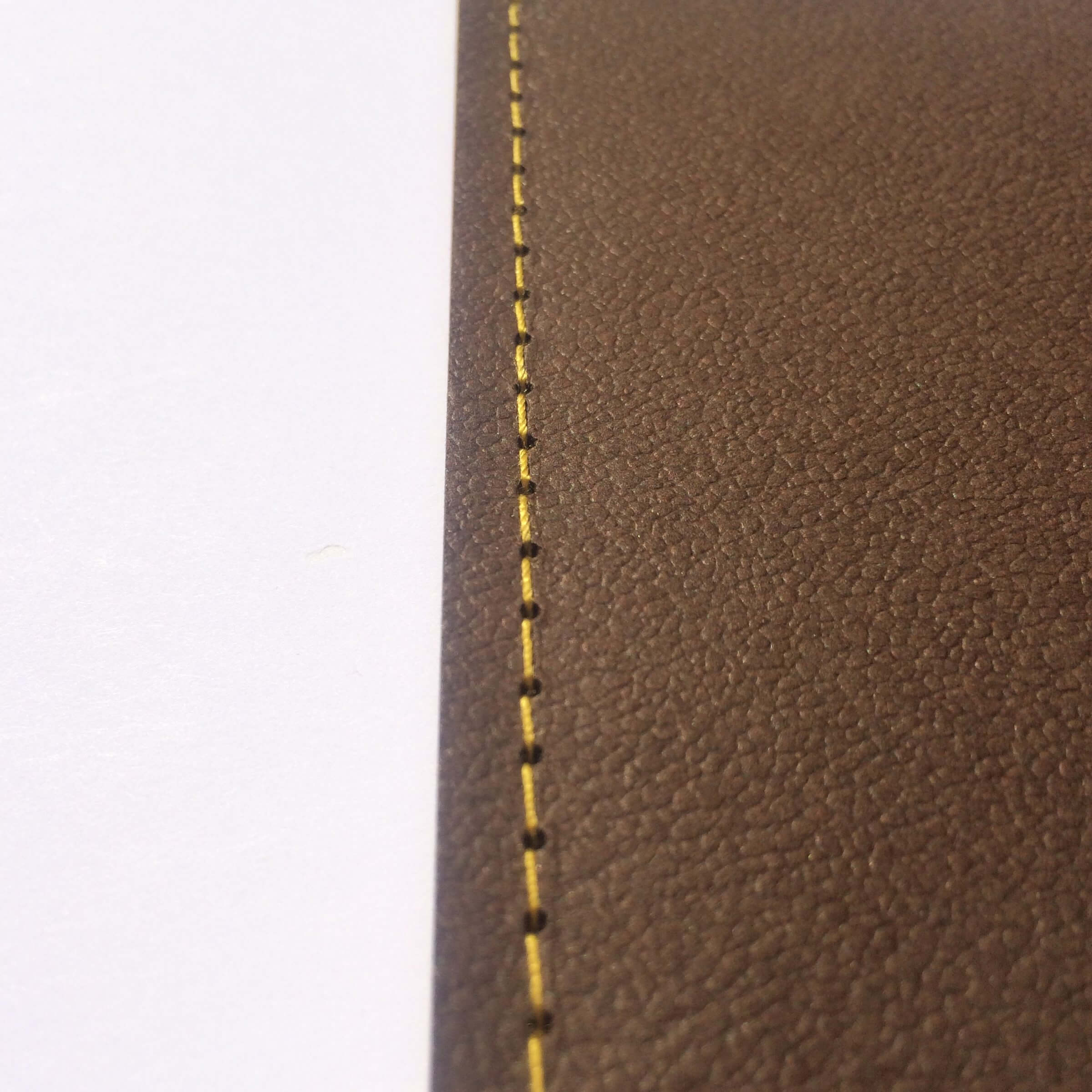 Example of Side Singer Sewing with Yellow Stitching
